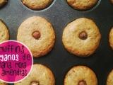 RECETA: muffins de banana con mermelada de moras y almendras [recetavegana]